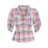 Bluse Herzform Kariert Damen für Trachten oder zur Jeans in Ihrer Freizeit & Büro Halbarm