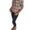 Bluse Bunt tailliert für Damen zur Jeans oder Lederhose