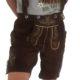 Lederhose Trachtenhose Hosen Herren Plattler Braun Echt Leder verstellbare Träger Knopf