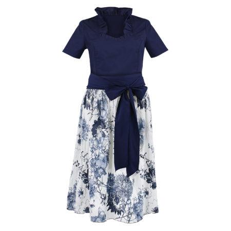 Dirndl Set Blau Blumen Damen
