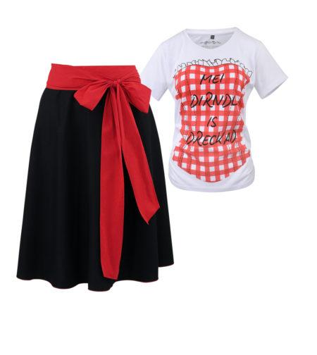 Dirndl Set Trachtenrock Trachtenshirt Damen