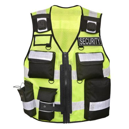 Robuste Winddichte Sicherheitsweste Warnbekleidung mit vielen Taschen