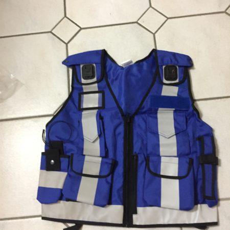 viele Taschen Reißverschluss Blau