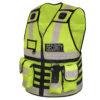 Funktions-Warnweste mit Taschen, Patch, Logo, Reißverschluss für Rettung, Einsatz