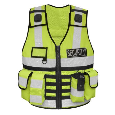 Einsatzweste Sicherheitsweste mit Taschen, Patch, leuchtend, gelb