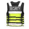 Warnweste Taschen Reißverschluss Pielini Security Weste Leuchtweste Sanitäter Rettungsweste Sicherheitsweste Einsatzweste Hundeführer Schutzweste