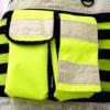 Arbeitsweste Sicherheitsweste mit Taschen Reißverschluss reflektierend Robust Winddicht
