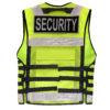 Einsatz-Warnweste mit Reißverschluss, Taschen reflektierend für Security, Rettung, Hundestaffel mit Taschen Reißverschluss