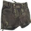 Lederhose kurz Hot Pants Braun Damen