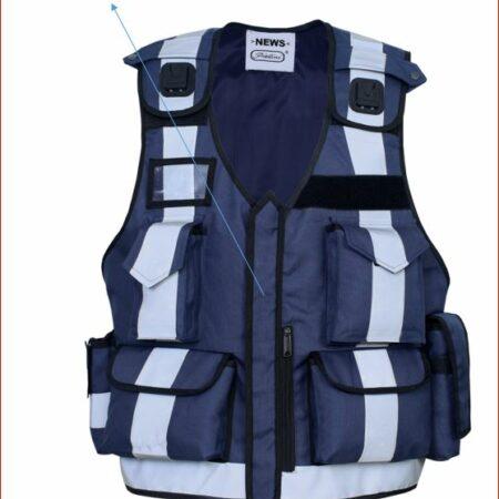 Arbeitsschutz Reflektierend Pannenweste Funktionell mit Patch & Taschen